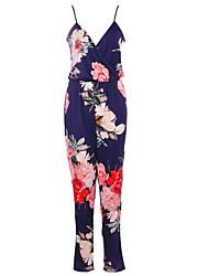 cheap -women's jumpsuit - floral strap