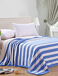 cheap -Knitted, Yarn Dyed Striped Geometric Cotton Blankets