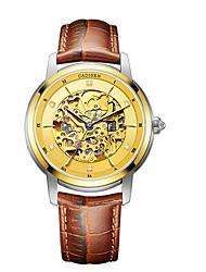 Недорогие -CADISEN Муж. С автоподзаводом Нарядные часы Модные часы Японский Защита от влаги Повседневные часы Натуральная кожа Группа Elegant Мода