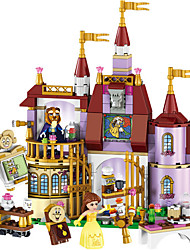cheap -LELE Educational Building Blocks Toys For Children Gifts Castle Girls Friends Princess Prince Mermaid Beauty Beast Snow Elsa Anna Building Blocks 379 pcs Floral Theme / Fairytale Theme / Architecture