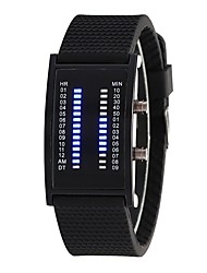 cheap -Men's Women's Digital Fashion Watch Chinese Casual Watch Silicone Band Fashion Black