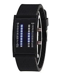 Недорогие -Муж. Жен. Модные часы Цифровой 30 m Повседневные часы силиконовый Группа Цифровой Мода Черный - Черный Один год Срок службы батареи