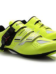 baratos -Tiebao® Tênis para Ciclismo Fibra de Carbono Anti-Escorregar, Vestível, Respirabilidade Ciclismo Preto / amarelo Homens