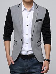 cheap -Men's Simple Blazer - Color Block