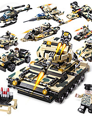 cheap -Building Blocks 834pcs Military Stress and Anxiety Relief / Parent-Child Interaction Military Vehicle / Tank Gift
