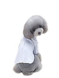 abordables -Chiens Robe Vêtements pour Chien Couleur Pleine Blanc Noir Tissu Matelassé Costume Pour les animaux domestiques Elégant