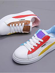 abordables -Femme Chaussures Cuir Nubuck Printemps Automne Confort Basket Talon Plat Bout rond pour Arc-en-ciel