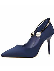 preiswerte -Damen Schuhe Nubukleder Frühling Herbst Pumps Komfort High Heels Stöckelabsatz für Normal Schwarz Grau Königsblau