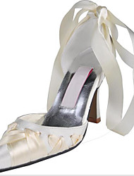 economico -Per donna Scarpe Seta Primavera / Autunno Comoda / Decolleté scarpe da sposa A stiletto Bianco