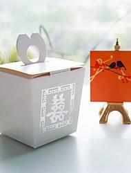 abordables -cube Cubique Papier durci Titulaire de Faveur avec Boîtes à cadeaux Sacoches à cadeaux Cannette de cadeau Emballages à Biscuits Boîtes
