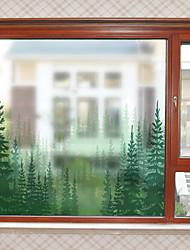 Недорогие -Оконная пленка и наклейки Украшение Современный Простой ПВХ Стикер на окна Матовая