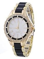 Недорогие -Жен. Нарядные часы Китайский Повседневные часы / Имитация Алмазный сплав Группа Мода / минималист Черный / Белый / Синий / Один год
