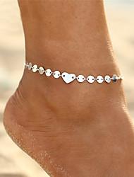 Недорогие -Ножной браслет - Сердце Богемные, Бикини, Мода Золотой / Серебряный Назначение Подарок Для вечеринок Жен.