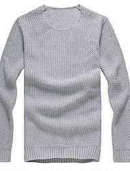 cheap -Men's Sports / Weekend Active Long Sleeve Slim Pullover - Solid Colored Round Neck