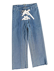 cheap -Women's Basic Jeans Pants - Solid Colored