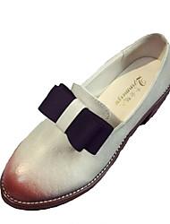 preiswerte -Damen Schuhe Gummi Frühling Herbst Komfort Outdoor Blockabsatz Runde Zehe für Draussen Weiß Schwarz Grau