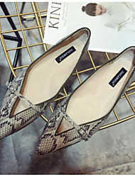povoljno -Žene Cipele PU Proljeće Jesen Udobne cipele Ravne cipele Ravna potpetica za Kauzalni Obala Badem