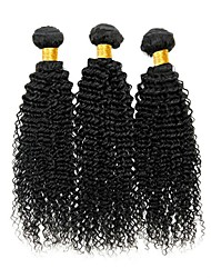 cheap -Brazilian Hair Curly Human Hair Extensions Human Hair Weaves Extention / Hot Sale Natural Black All