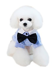 baratos -Cachorros Camisetas Roupas para Cães Slogan Desenho Animado Amarelo Azul Tecido Alcochoado Ocasiões Especiais Para animais de estimação