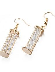 cheap -Women's Lovely Drop Cubic Zirconia Drop Earrings / With Gift Box - Fashion Gold Earrings For Wedding / Daily