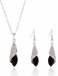 cheap -Women's Jewelry Set - Sweet, Fashion Include White / Black / Champagne For Wedding / Evening Party
