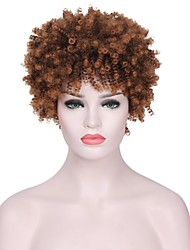 cheap -Synthetic Wig Curly Layered Haircut Synthetic Hair Faux Locs Wig Brown Wig Women's Short Capless