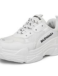 billige -Dame Sko Tyl Forår Sommer Komfort Sneakers Flade hæle for Afslappet udendørs Hvid