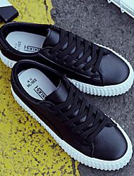 povoljno -Žene Cipele Sintetika, mikrofibra, PU Proljeće Jesen Udobne cipele Sneakers Niska potpetica za Kauzalni Obala Crn