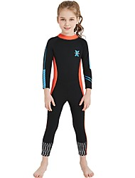 cheap -Girls' Full Wetsuit 2.5mm Spandex / SCR Neoprene Diving Suit / Sun Shirt Anatomic Design, Stretchy, UPF50+ Long Sleeve Back Zipper /