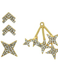 cheap -Women's Stud Earrings / Ear Cuff / Front Back Earrings / Ear Jacket - Star Fashion Gold For Gift / Date / 3pcs