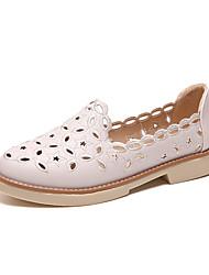 Недорогие -Жен. Обувь Полиуретан Зима Армейские ботинки Ботинки Заостренный носок Сапоги до середины икры для Повседневные Белый Черный Бежевый