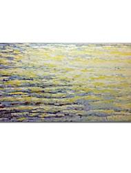 Недорогие -styledecor® современная ручная роспись абстрактная нож рисует желтые и белые квадраты холст масляной живописи настенный узор на обернутом холсте