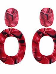 cheap -Women's Drop Earrings / Hoop Earrings - European Red / Pink / Light Coffee For Daily / Formal