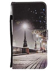 baratos -Capinha Para Huawei Mate 10 Mate 10 lite Porta-Cartão Carteira Com Suporte Flip Magnética Capa Proteção Completa Vista da cidade Rígida