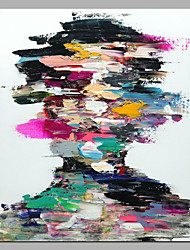 economico -Hang-Dipinto ad olio Dipinta a mano - Astratto Ritratti Modern Tela