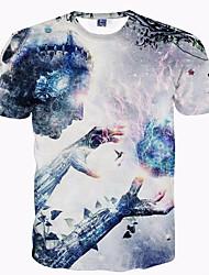 billige Herremode og tøj-Herre - Geometrisk Trykt mønster Punk & gotisk Gade T-shirt