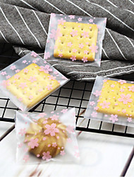 Недорогие -Square Shape пластик Фавор держатель с Вышивка бисером в виде цветов Мешочки - 1pack