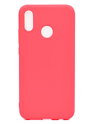 cheap -Case For Huawei P20 lite P20 Ultra-thin Back Cover Solid Colored Soft TPU for Huawei P20 lite Huawei P20 Pro Huawei P20 P10 Lite P10