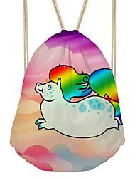 Недорогие -Жен. Мешки холст рюкзак С отверстиями Цвет радуги