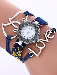 cheap -Women's Fashion Watch Chinese Large Dial Fabric Band Heart shape / Fashion Black / White / Blue / One Year