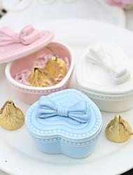 economico -Circolare Ceramica Porta-bomboniera con Con ruche Bomboniere scatole - 4