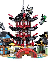 cheap -Ninja Temple DIY Building Blocks 737pcs House Shaped Parent-Child Interaction Exquisite Cartoon Architecture Toy Toy Gift