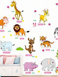 Недорогие -Наклейка на стену Декоративные наклейки на стены - Наклейки для животных Животные Цветочные мотивы / ботанический Положение регулируется