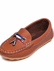 abordables -Garçon Chaussures PU de microfibre synthétique Printemps Confort / Moccasin Mocassins et Chaussons+D6148 pour Noir / Brun claire / Brun