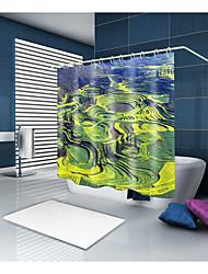 baratos -Cortinas e Ganchos de Banho Clássico Regional Poliéster Sólido Inovador Máquina Impermeável Banheiro