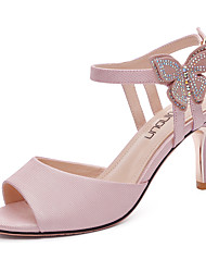 cheap -Women's Shoes Patent Leather Summer Fall Basic Pump Gladiator Sandals Stiletto Heel for Party & Evening White Pink