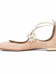 povoljno -Žene Cipele Koža Proljeće Jesen Balerinke Udobne cipele Ravne cipele Ravna potpetica za Kauzalni Zabava i večer Sive boje Plava Pink