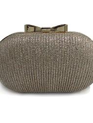 Недорогие -Жен. Мешки PU Вечерняя сумочка Аппликации Вышивка Золотой
