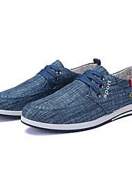 cheap -Men's Canvas Spring / Fall Comfort Sneakers Gray / Blue / Light Blue