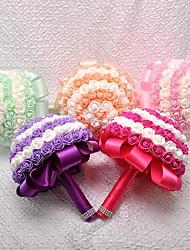abordables -Fleurs de mariage Bouquets Accessoires & Signes Pour Photo Mariage Soie Mousse 11-20 cm
